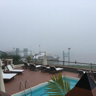 Nebel auf dem Mekong