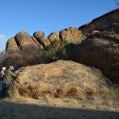 Schöne riesige Felsformationen